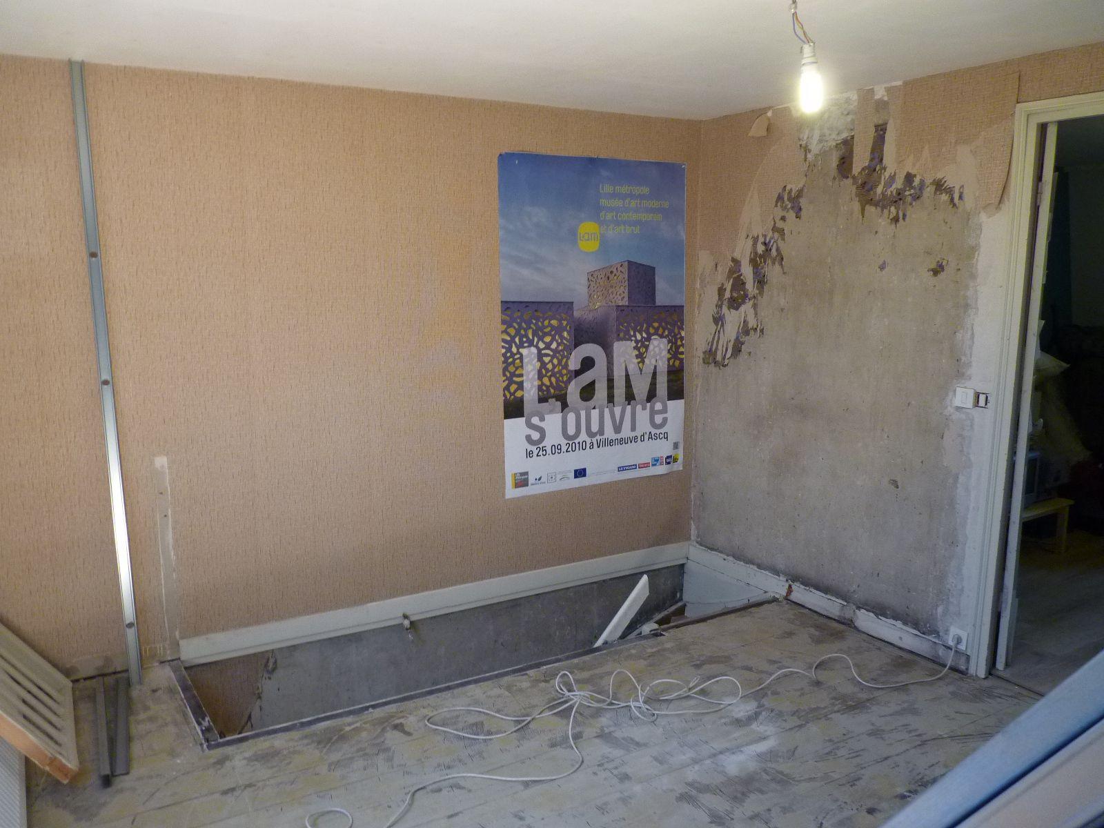 transformation de la mezzanine la maison du sart. Black Bedroom Furniture Sets. Home Design Ideas