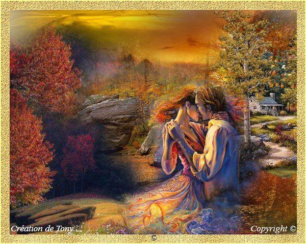 Création Copyright de Tony richard pour le poème Secrets d'automne. Tous droits réservés