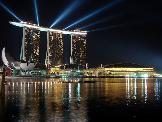 Marina Bay Sands during 2010 Youth Olympics opening