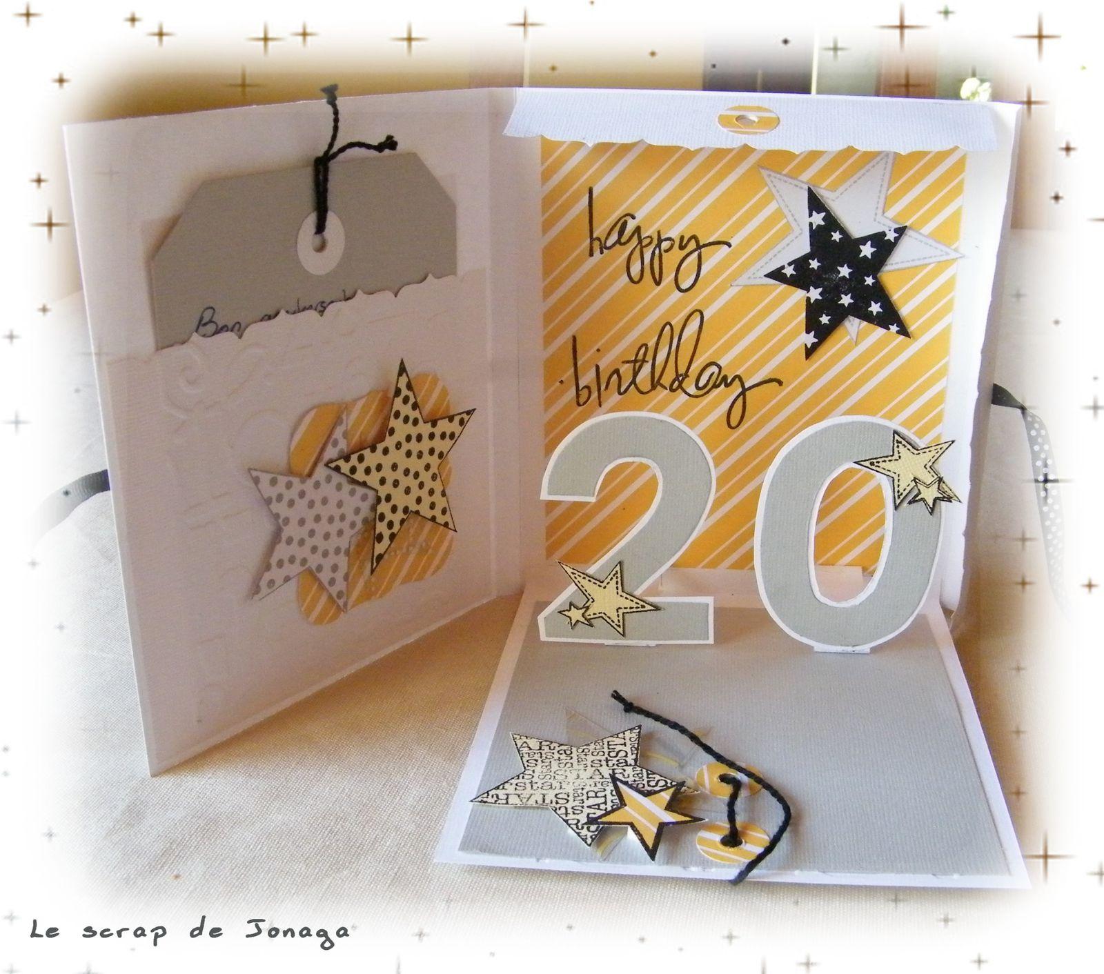 scrapbooking carte anniversaire 20 ans