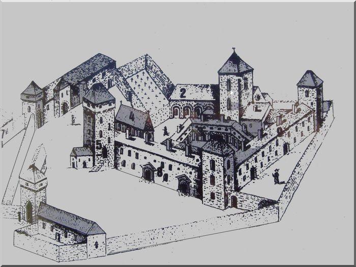 L'hôpital de l'ancien monastère a-t-il toujours la même architecture ?