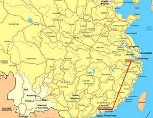 Trajet Guangzhou-hangzhou