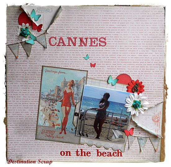 Cannes on the beach