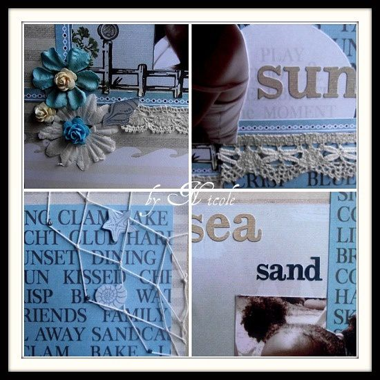 Collage Sea sand sun