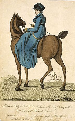 Killerton--French-lady-on-horseback--1807.jpg