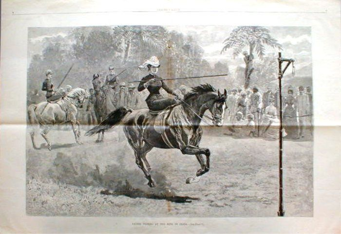 Ladies-Tilting-at-the-ring-in-India-1889