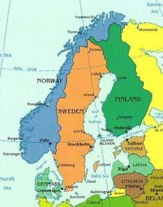 pays scandinaves carte - Image