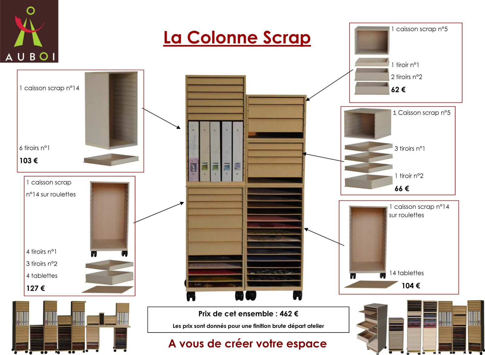 un nouveau meuble de scrap le blog de sonia. Black Bedroom Furniture Sets. Home Design Ideas