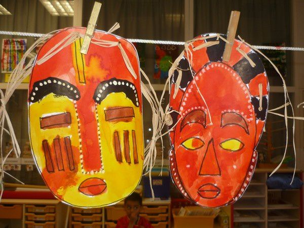 masque africain petite section