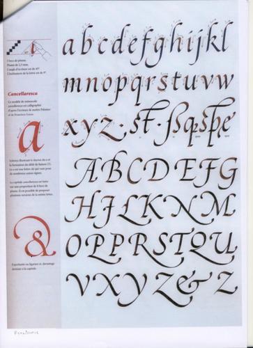 Alphabet Calligraphie Gratuit les alphabets de calligraphie médiévale. - vivre au moyen âge