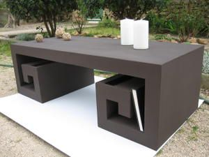 table basse japonaise en carton termin e meubles en carton marie krtonne. Black Bedroom Furniture Sets. Home Design Ideas