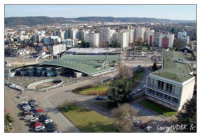 Sotteville vue du haut de l'ILN place de l'hôtel -copie-3