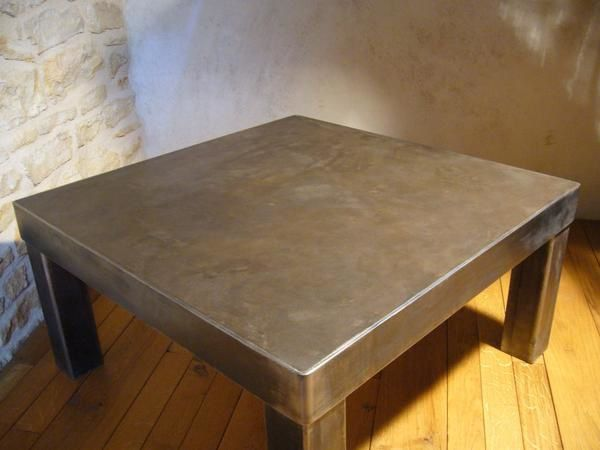 Table basse en b ton cir olnidesign luminaires mobiliers - Table en beton cire ...