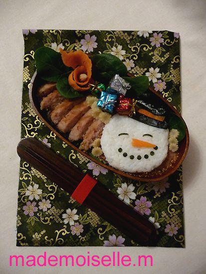bentô bonhomme de neige novembre 2010 05bis