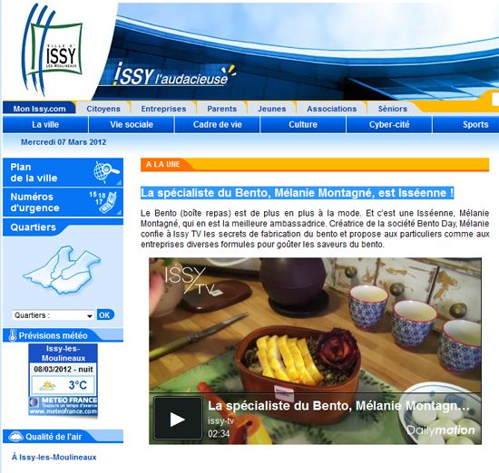page issy site internet