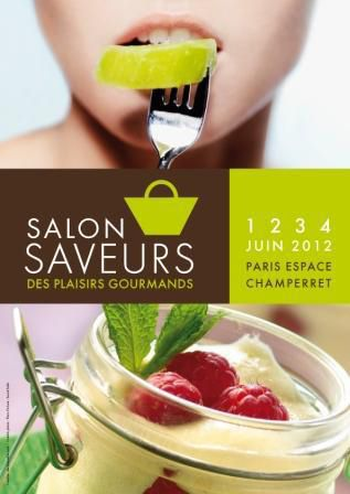 Affiche salon SAVEURS - juin 2012
