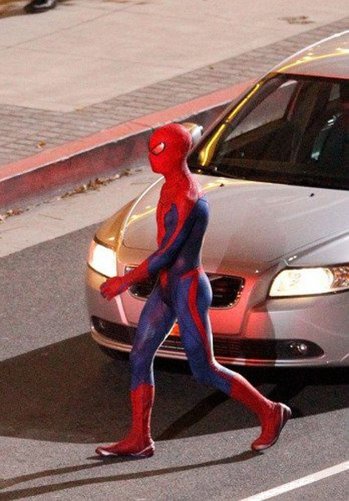Spider-Man Reboot Tournage Los Angeles Costume 02