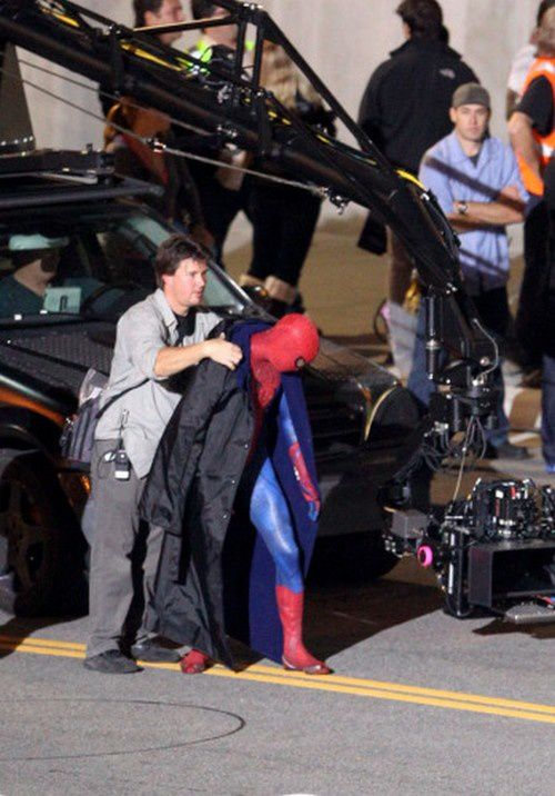 Spider-Man Reboot Tournage Los Angeles Costume 03