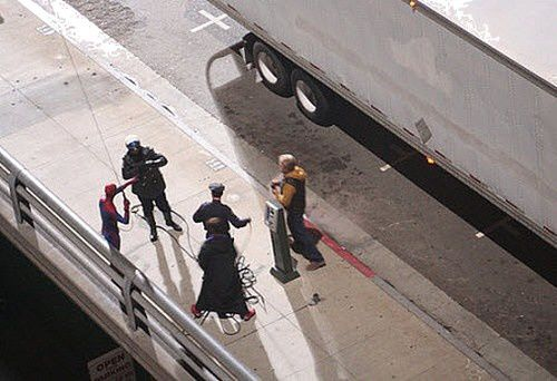 Spider-Man Reboot Tournage Los Angeles Toile 12