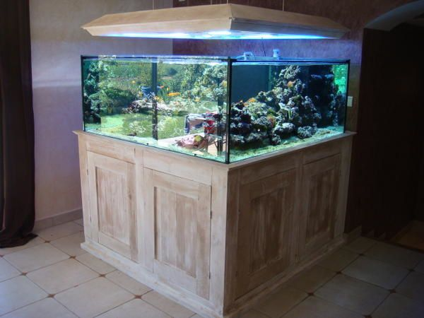 Meuble aquarium tetra 60l for Meuble aquarium design