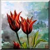 Tulipes en ciel
