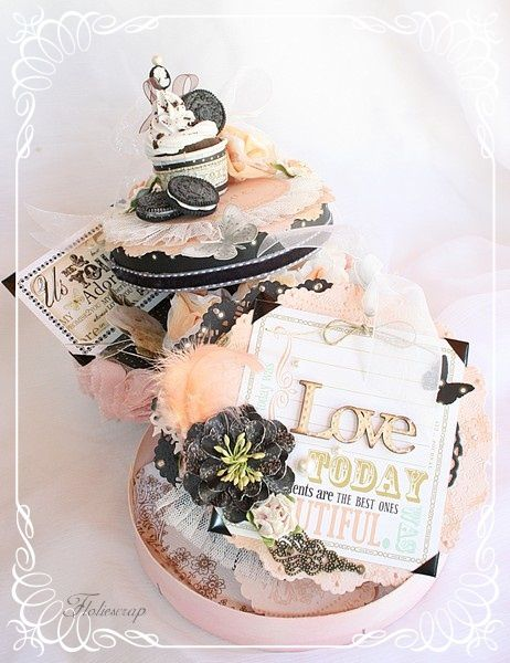 Mini album wedding cake pour scrapbook adhesives by 3l for Interieur wedding cake
