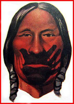 Tribu Hidasta, la peinture noir symbolise la joie, la fierté, il a déjà tué un ennemi