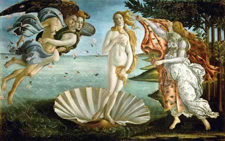 La Naissance de Vénus (1485) de Botticelli