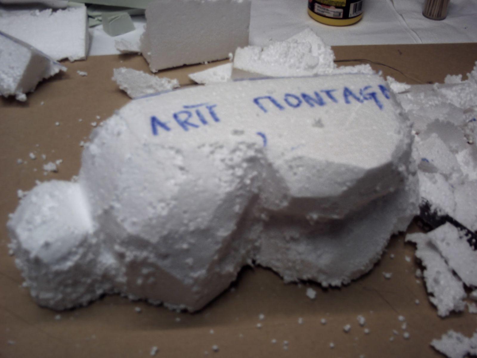 Faconnage de la montagne fabriquer une creche de noel - Comment fabriquer une creche de noel ...