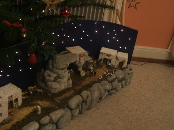 Idee de decoration de creche de noel