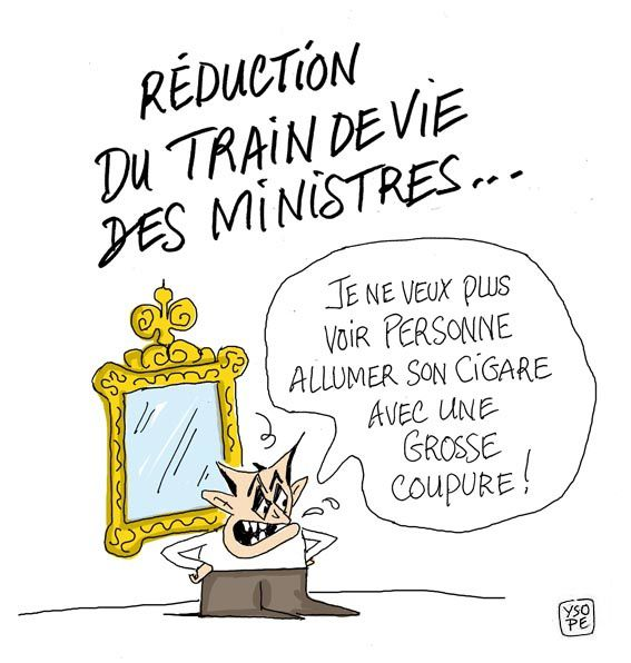 train de vie ministre