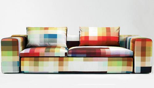 canapé pixel couch par cristian zuzunaga