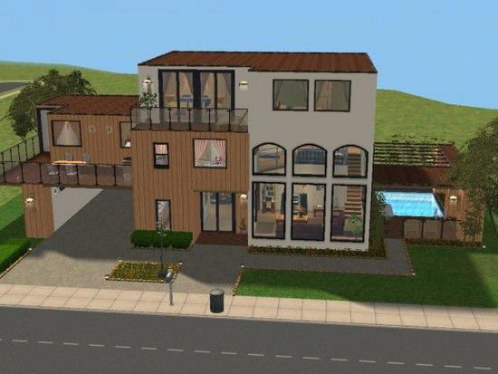 3 maisons et d co sims2 a la red couverte des sims 2 for Decoration maison sims 4