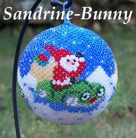 Tissage danois le journal des perles de sandrine for Decorer boules de noel polystyrene