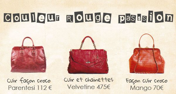shoppingbag rouge