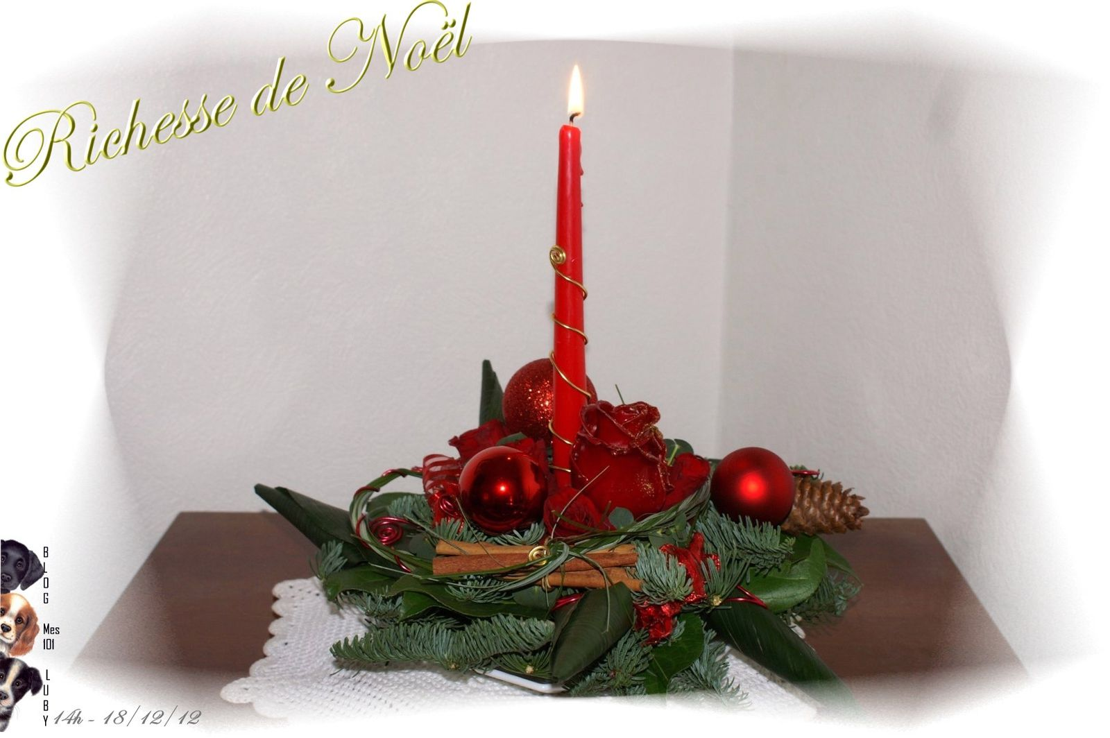 Richesse de no l le monde de luby for Decoration florale noel