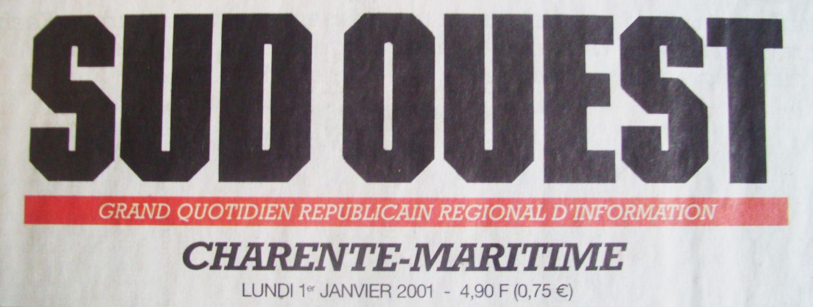 Logo SUD OUEST 1er Janvier 2001