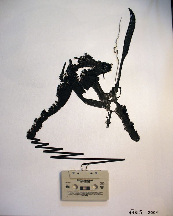 The-Clash--Cassette-tape-on-canvas--2009.jpeg