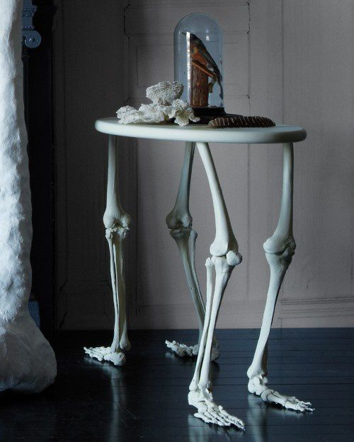 decorative-skeleton-bone-table