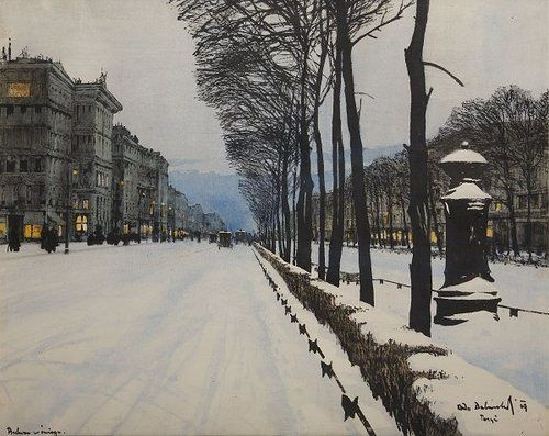 Odo-Dobrowolski--Polish--1883-1917---Boulevard-in-the-Snow-.jpg
