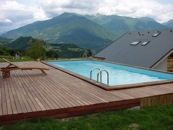 Plan bleu piscines bois terrasses 04 72 54 38 11 for Installation piscine bois semi enterree