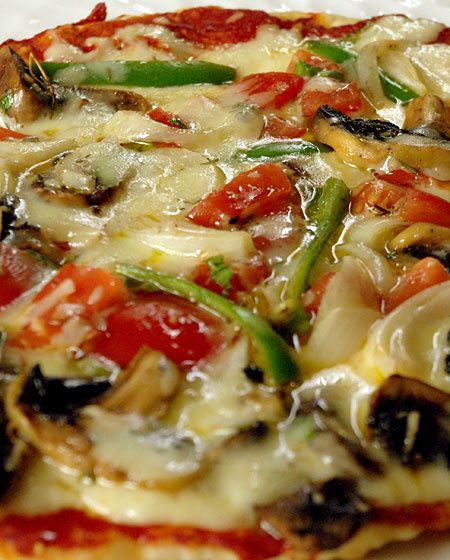 pan pizza vegetarienne