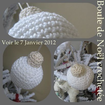 crochet ball christmas DIY