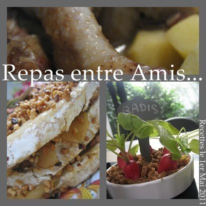 Salees sucrees que cache ma boite belette for Repas simple entre amis