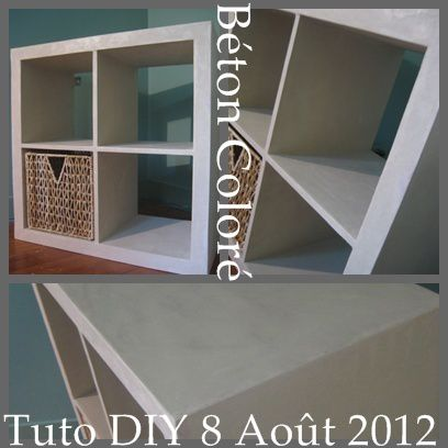 essayez la technique du b ton cir sur une tag re ik a hackers 39 que cache ma boite. Black Bedroom Furniture Sets. Home Design Ideas