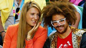 Azarenka et Redfoo source Lucas Dawson Getty images