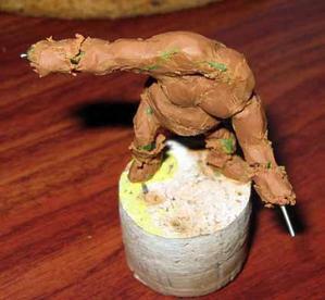 Ma première figurine sculptée.