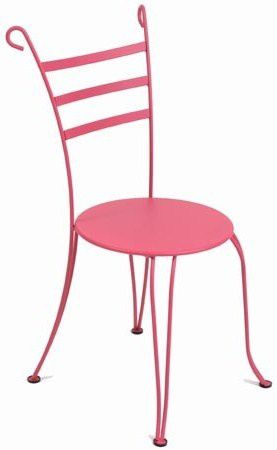 chaises en fer forg fermob lido rouille fushia ou. Black Bedroom Furniture Sets. Home Design Ideas