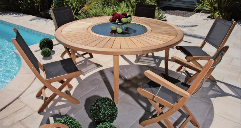 Tables de jardin rondes conceptions de maison for Grande table de jardin pas cher