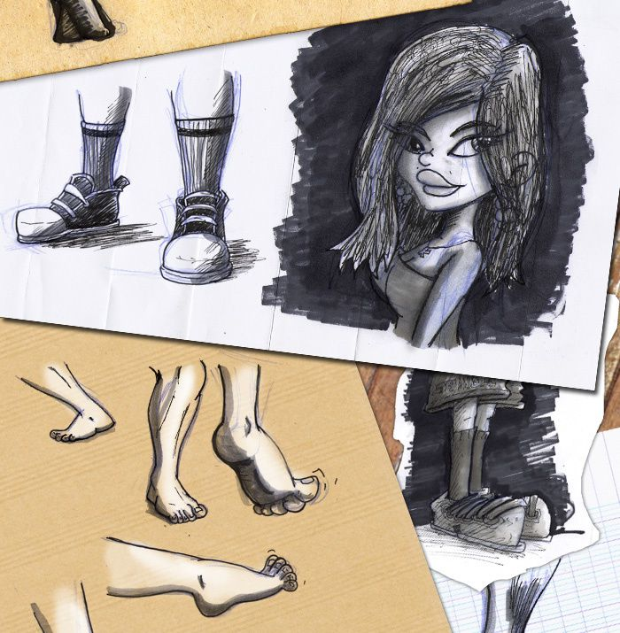 croquis pieds rought feets 02